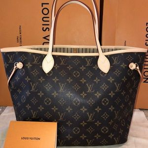 Louis Vuitton Monogram Neverfull MM Bag+Receipt